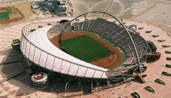 Three workers involved in Coronavirus working to build a stadium in Doha, Qatar